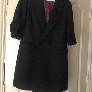 BCBG Double Breasted Bubble Sleeves Coat Dress